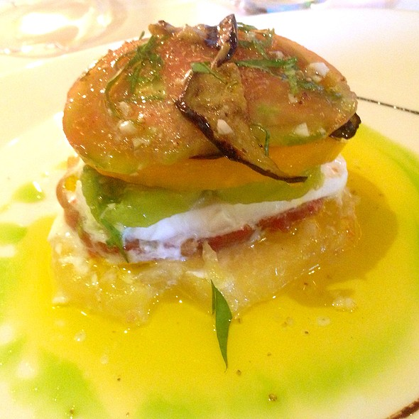 Heirloom Tomato And Buffalo Mozzarella Tower - Mille Fleurs, Rancho Santa Fe, CA