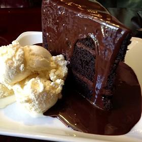 Old Fashioned Chocolate Fudge Cake - Shuckers, Seattle, WA