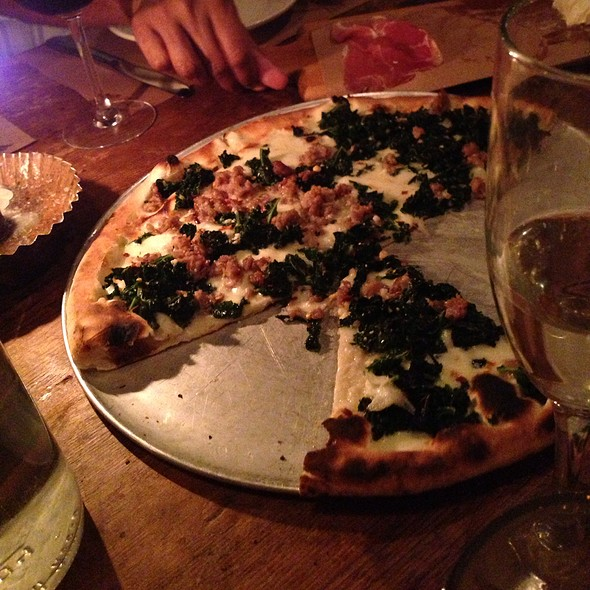 Kale And Sausage Pizza - Emporio, New York, NY