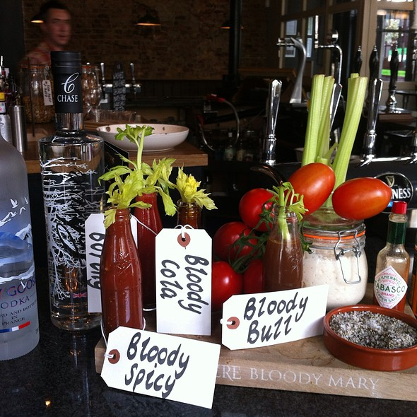 Bloody Mary Board - The Pembroke, London