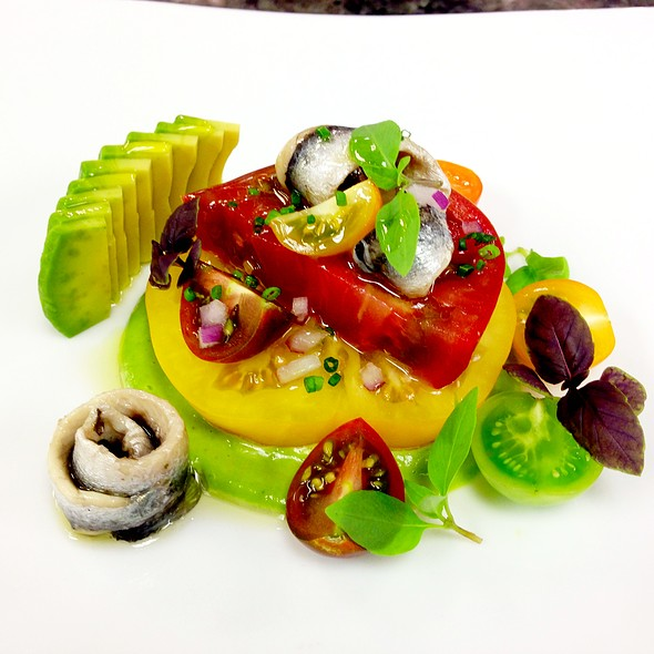 Heirloom Tomato Salad - Wolfgang Puck at Hotel Bel-Air, Los Angeles, CA