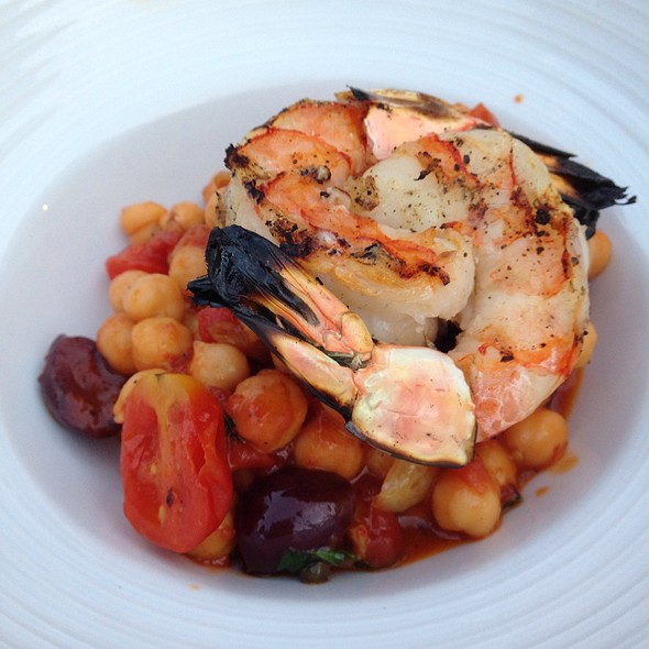 Grilled Shrimp With Chick Peas - Locale Cafe & Bar - Closter, Closter, NJ