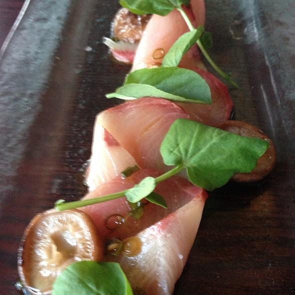 Hamachi Sashimi With Marinated Shitake Mushrooms - NINE-TEN, San Diego, CA