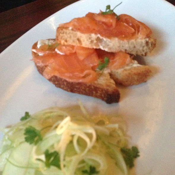 Smoked Salmon Toast With Shaved Fennel - NINE-TEN, San Diego, CA