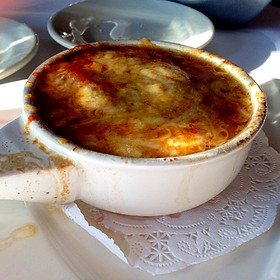 French Onion Soup - Flaming Torch Restaurant, New Orleans, LA