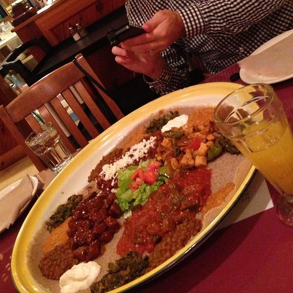 Ethiopian Platter - Assab Eritrean Cuisine, San Francisco, CA