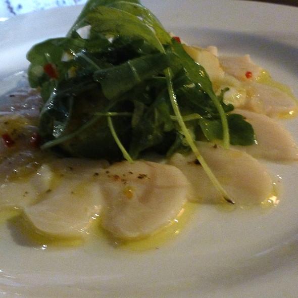 Scallop ceviche with baby potato, caper & shaved fennel salad. - Cornstore, Cork, Cork