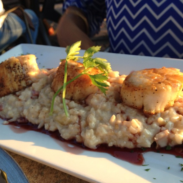 Seared Scallops And Risotto - Sunset Cove, Tarrytown, NY