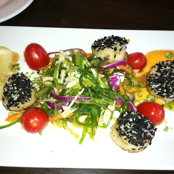 Sesame Encrusted Scallops - Seaglass Restaurant and Lounge, Salisbury, MA