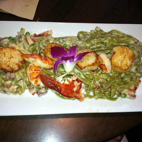 Lobster & Scallop Carbonara - Seaglass Restaurant and Lounge, Salisbury, MA