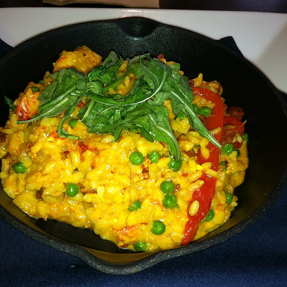 Lobster Paella - Seaglass Restaurant and Lounge, Salisbury, MA