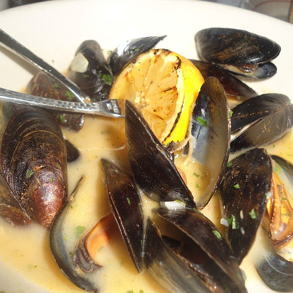 PEI MUSSELS AL FORNO White Wine, Garlic, Italian Parsley - Vic & Angelo's - Delray Beach, Delray Beach, FL