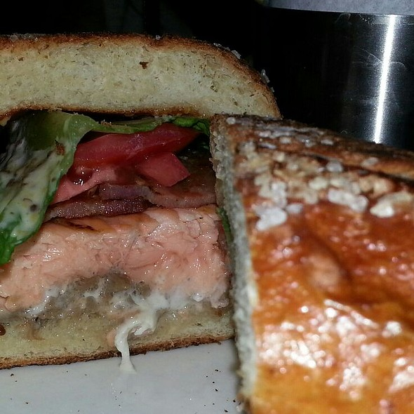 Blackened Salmon Club Sandwich - UpRoot Restaurant, Warren, NJ