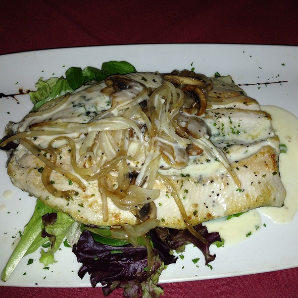 Grilled Fish With Caramelized Onions - Tango & Malbec, Houston, TX