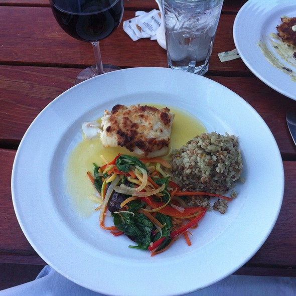 Macadamia Nut Encrusted Halibut - Jake's on the Lake, Tahoe City, CA