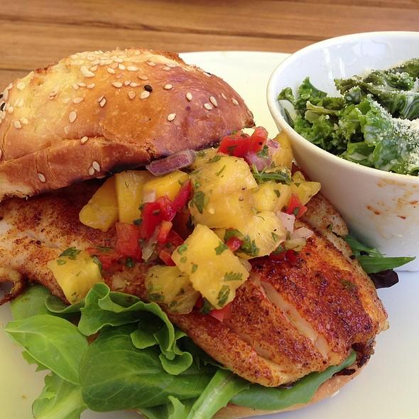 Blackened Catfish Sandwich - Flying Fish, Seattle, WA