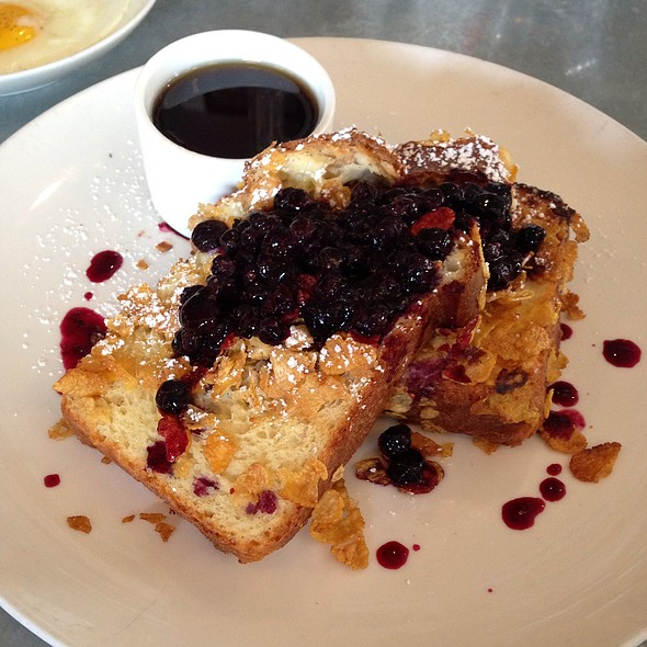 Cornflake & Almond Crusted French Toast With Blueberry Compote - Citizens Band, San Francisco, CA