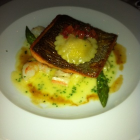 Trout On Gnocci with Shrimp and A Sweet Corn Ravioli - Raymonds, St. John's, NF