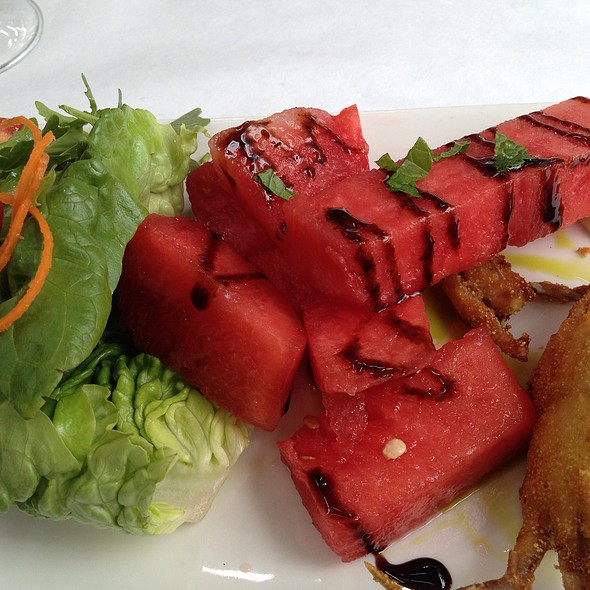 Softshell Crab And Watermelon Salad - The Teahouse Restaurant, Vancouver, BC