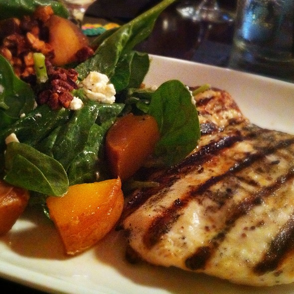 Spinach Salad With Grilled Chicken - Tryst Restaurant, Arlington, MA