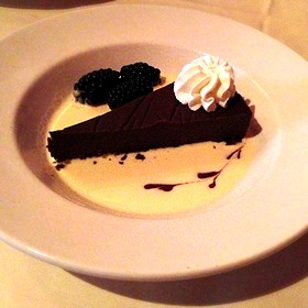flourless chocolate cake - Muriel's Jackson Square, New Orleans, LA