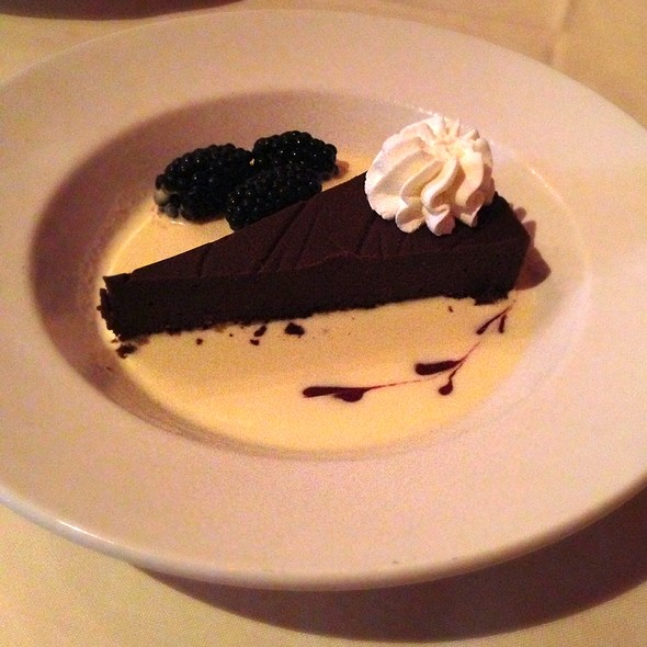 flourless chocolate cake - Muriel's Jackson Square, New Orleans, LA