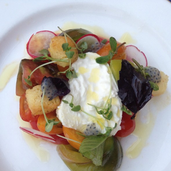 Burrata and Heirloom Tomato Salad - Saxon + Parole, New York, NY