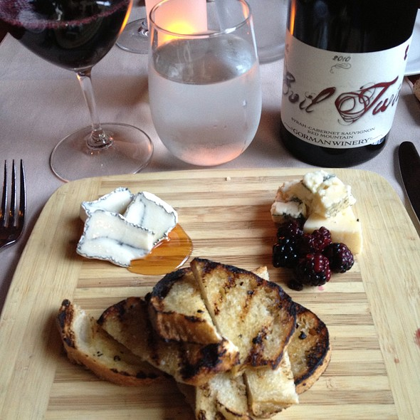 Cheese, Honey, Blackberries, & Syrah - American Grocery Restaurant, Greenville, SC