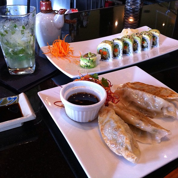 Vegitables Sushi, Dumplings, And Japanese Mojito - AZN Restaurant - Charlotte, Charlotte, NC