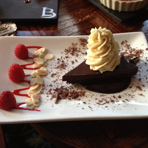 Chocolate Almond Tart - Left Bank Restaurant, Vail, CO