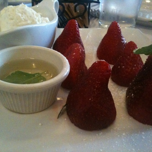 Fresh Strawberries - Le Paris, New York, NY