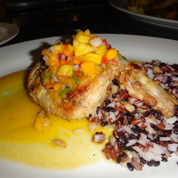 Double Cut Pork Chop, Piquant Mango Pineapple Salsa - Patio Delray, Delray Beach, FL
