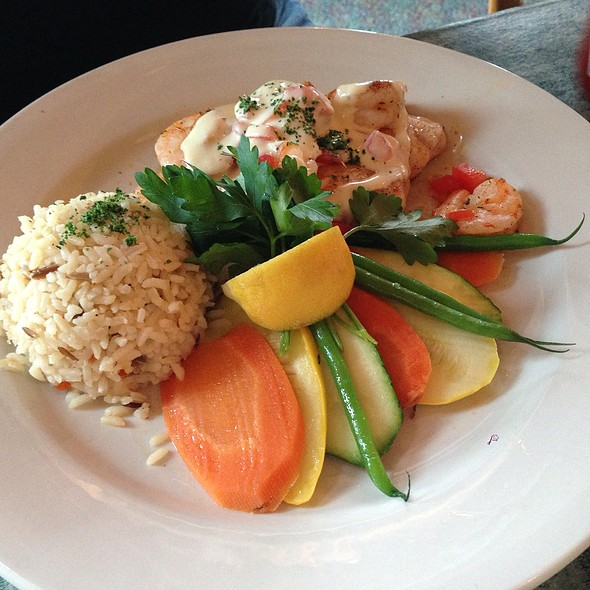 Tilapia with Creamy Lobster Topping - Old Oyster Factory, Hilton Head Island, SC
