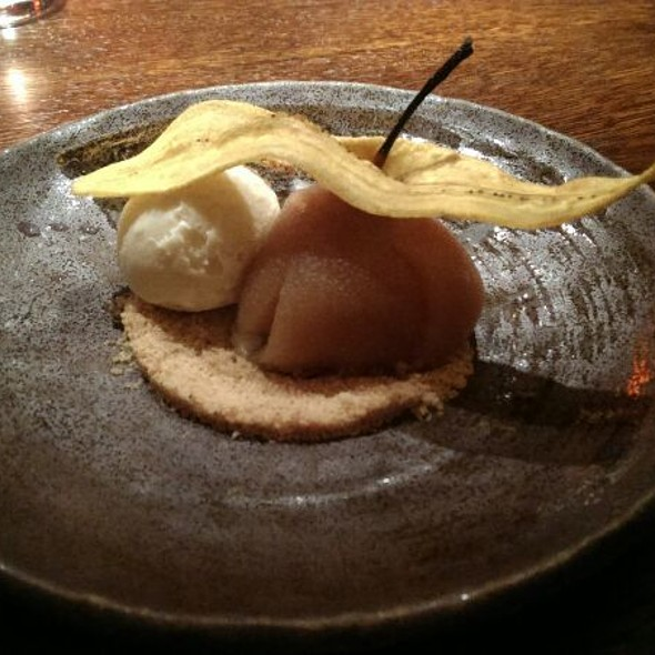Poached Nashi Pear With Soya Milk Ice Cream - Aqua Kyoto, London