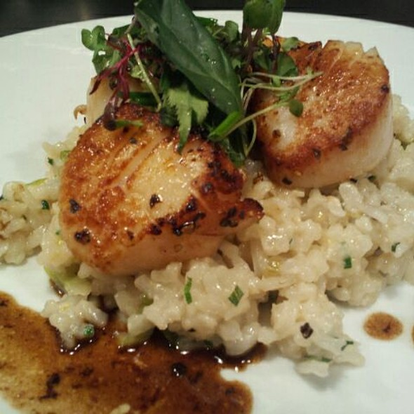 Scallops and risotto - Cupping Room Cafe, New York, NY