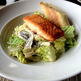 Salmon Caesar Salad - Sunset Terrace - Omni Grove Park Inn, Asheville, NC