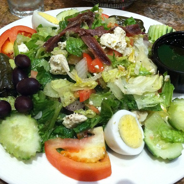 Rustic Greek Salad - Adelphia Restaurant, Deptford, NJ