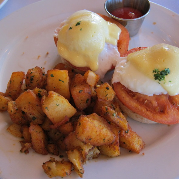 Eggs Benedict with Fried Eggplant - Cucina Dell' Arte, Palm Beach, FL