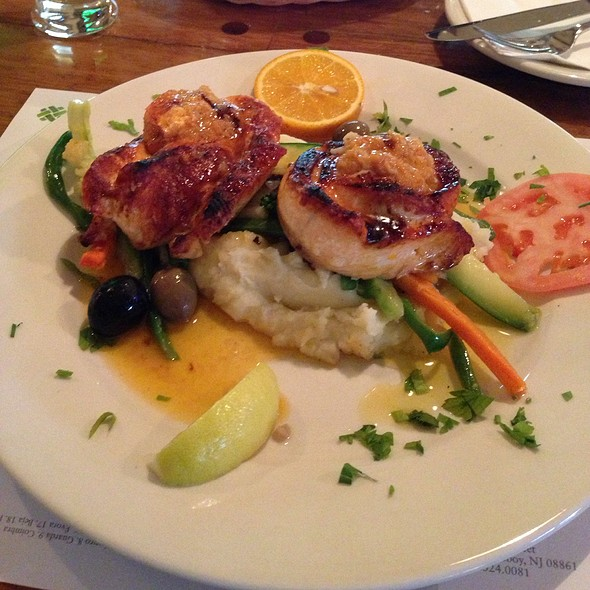Grilled Salmon Stuffed With Real Crabmeat - Allegro Seafood Grill, Newark, NJ
