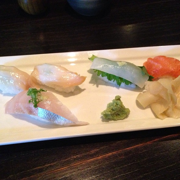 Sushi - Welk, Rainbow Mackerel, Cuttlefish, And Salmon - TEI-AN, Dallas, TX
