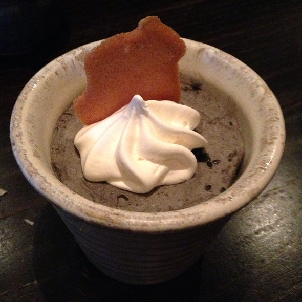 Black Sesame Mousse - TEI-AN, Dallas, TX