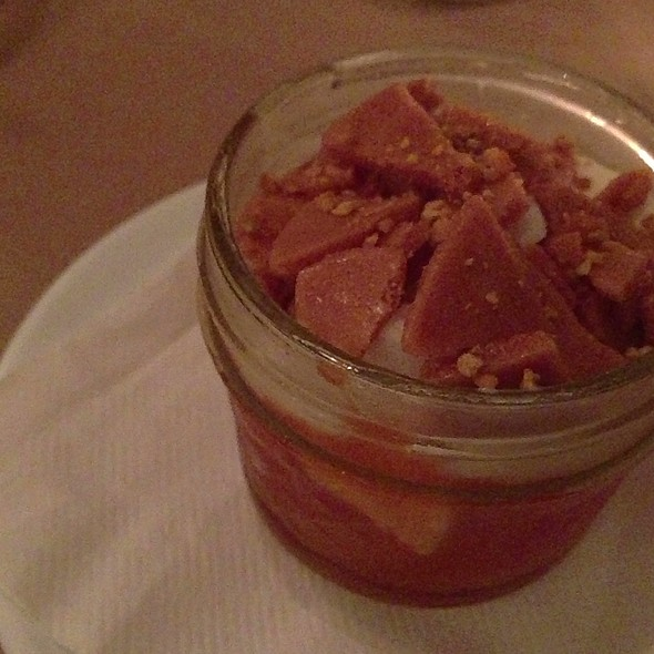 Apricot Jam, Lavender Honey Ice Cream, Honey Ice Milk, Honey Brittle And Bee Pollen - Grange Kitchen & Bar, Ann Arbor, MI