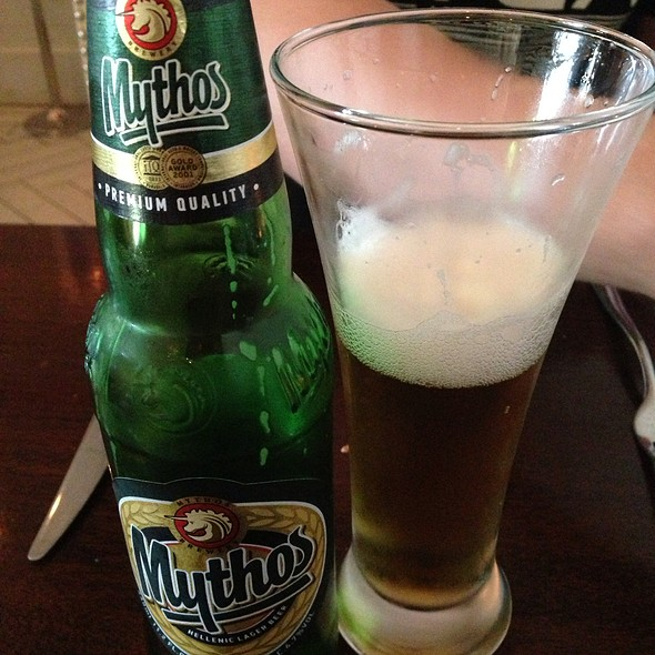 Mythos Beer - Taverna Mykonos, Elmwood Park, NJ