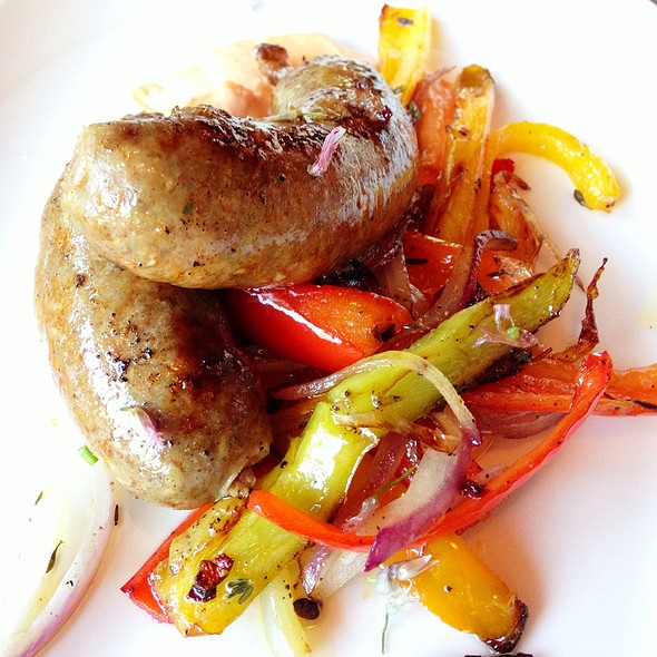 Lamb Sausages, Heirloom Summer Peppers - Florio, San Francisco, CA