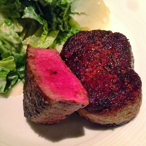 steaks and salad - YEW seafood + bar - Four Seasons Hotel - Vancouver, Vancouver, BC