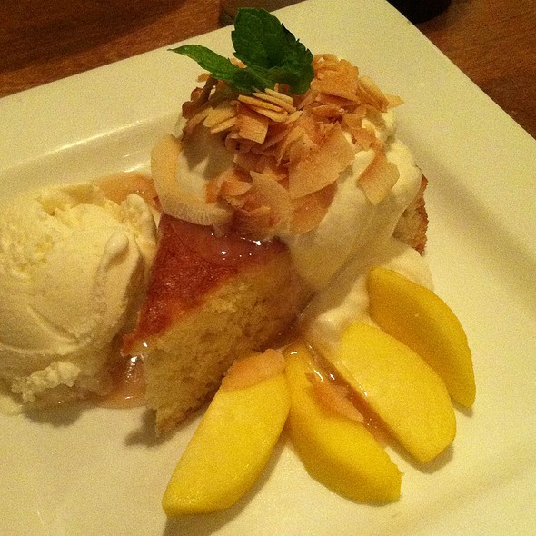 Peaches And Coconut Cream Shortcake - Good Earth Edina, Edina, MN