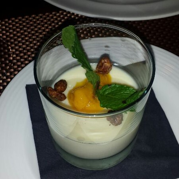 Peach Panna Cotta - Westend Bistro DC, Washington, DC