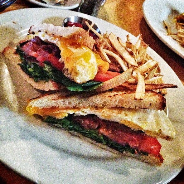 BLT with a Fried Egg - Memphis Cafe, Costa Mesa, CA