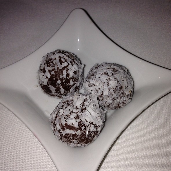 Dark Chocolate Rolled In Coconut - Q Haute Cuisine (formerly La Caille), Calgary, AB