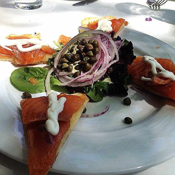 Grilled Flatbread With Smoked Salmon - Nonni's Bistro, Pleasanton, CA